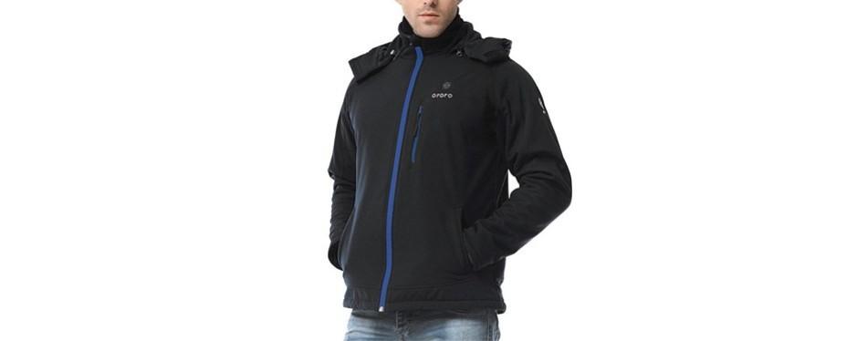 ororo men's soft-shell heated jacket