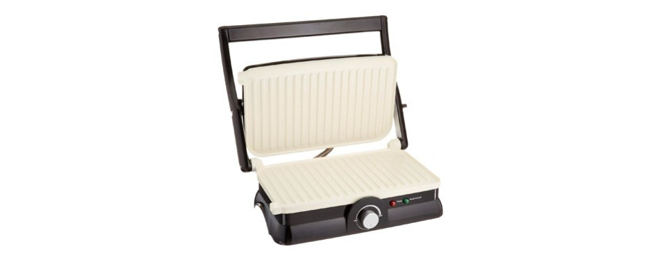 oster titanium-infused duraceramic 2-in-1 panini press and grill