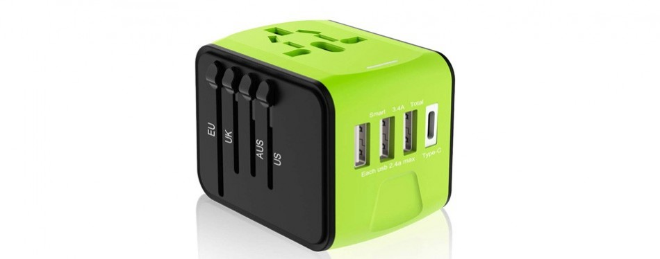 ougrand universal travel plug adapter