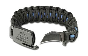 outdoor edge para-claw paracord survival bracelet