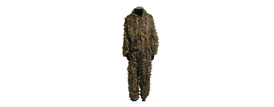 outerdo camo suits ghillie suits 3d leaves woodland camouflage clothing army sniper