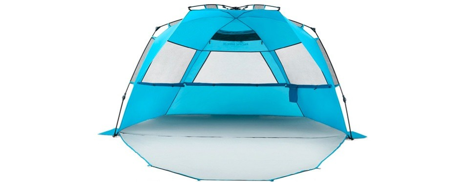 pacific breeze easy setup beach tent– deluxe version