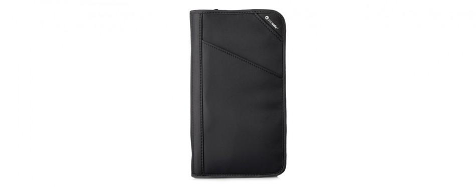 pacsafe rfidsafe v200 anti-theft rfid blocking travel wallet organizer