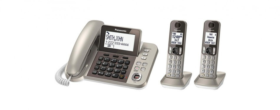 panasonic corded / cordless phone system