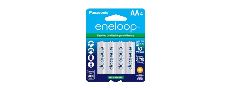 panasonic eneloop aa 2100 cycle ni-mh pre-charged rechargeable batteries
