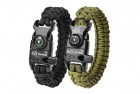 paracord protection bracelet with embedded compass