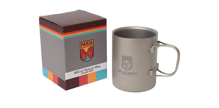 Paria Outdoor Products Titanium Wall Mug