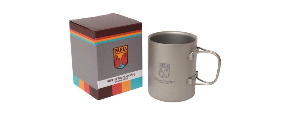 paria outdoor products titanium wall mug