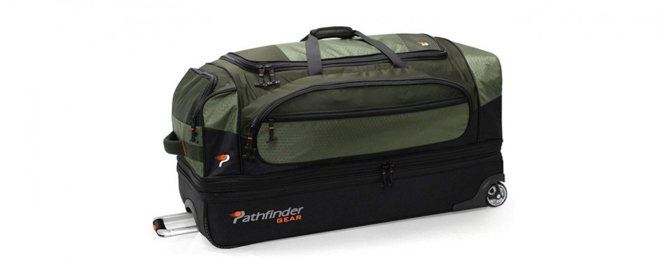 pathfinder gear 36 inch rolling drop bottom rolling duffel bag