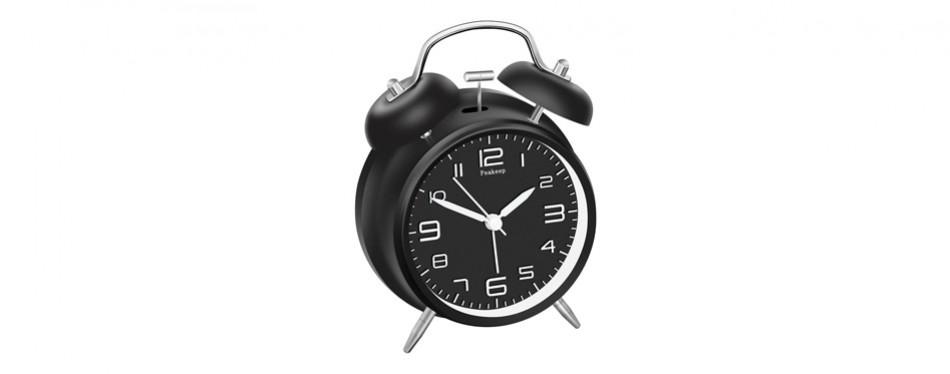 peakeep twin bell stereoscopic clock