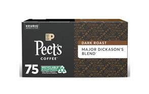 peet's coffee major dickason's blend k cup coffee pods