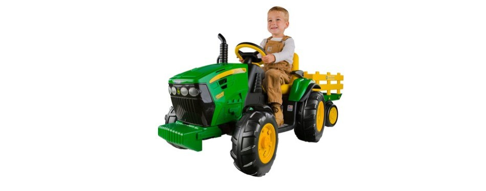 peg perego john deere ground force tractor with trailer
