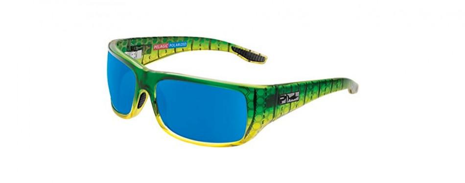 pelagic men's fish hook polarized fishing sunglasses