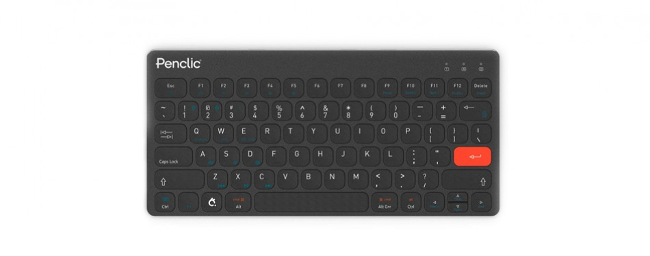 penclic kb3 wireless bluetooth ergonomic mini keyboard