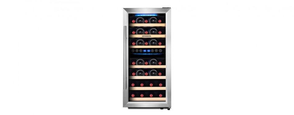 phiestina 33 bottle double zone wine cooler