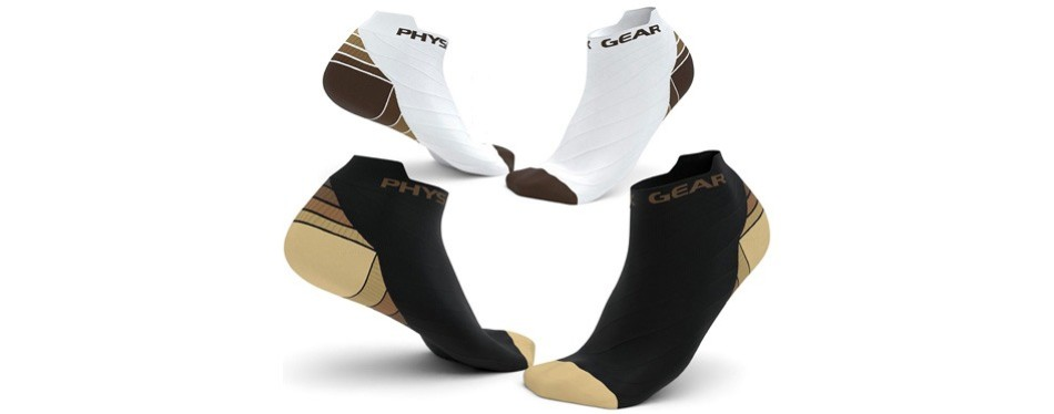 physix compression running socks
