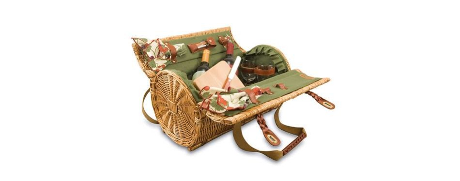 picnic time verona insulated wine and cheese basket
