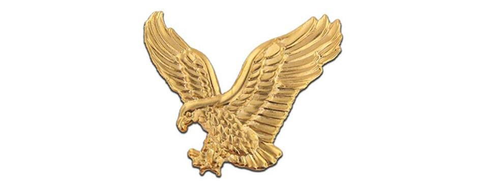 pinmart soaring american gold eagle jewelry lapel pin
