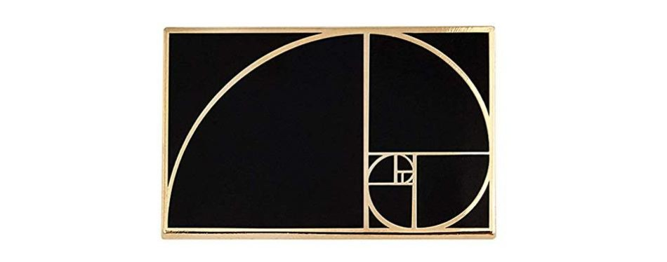 pinsanity golden ratio enamel lapel pin