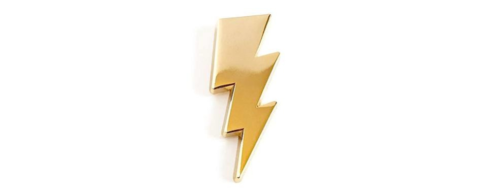 pinsanity lightning bolt lapel pin