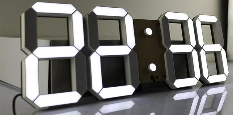 Pinty Multifunctional LED Wall Clock
