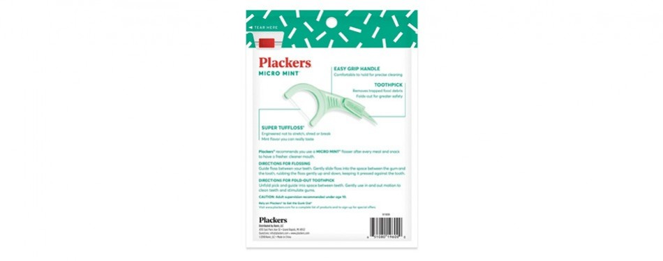 plackers micro mint dental flossers