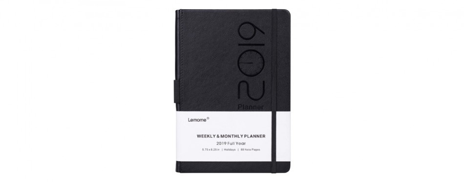 planner 2019 with pen loop