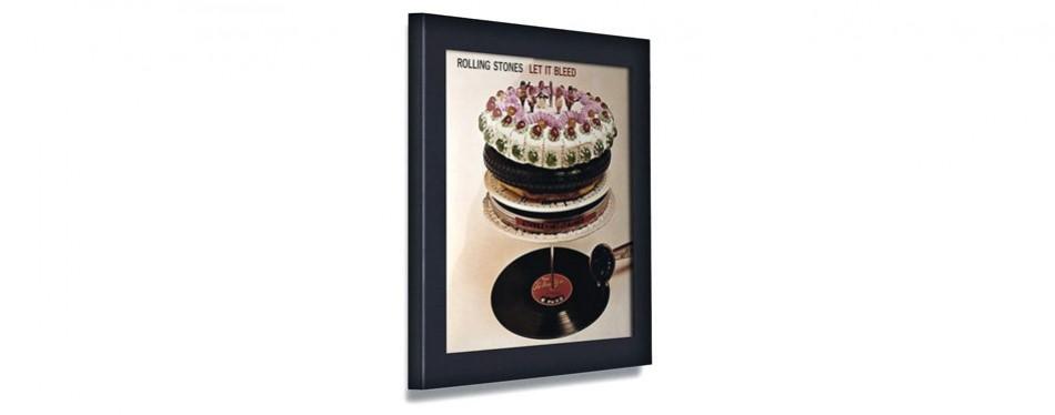 play & display vinyl record display frame