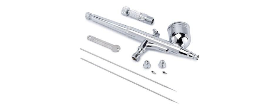 pointzero dual-action 7cc gravity-feed airbrush 3 tip set