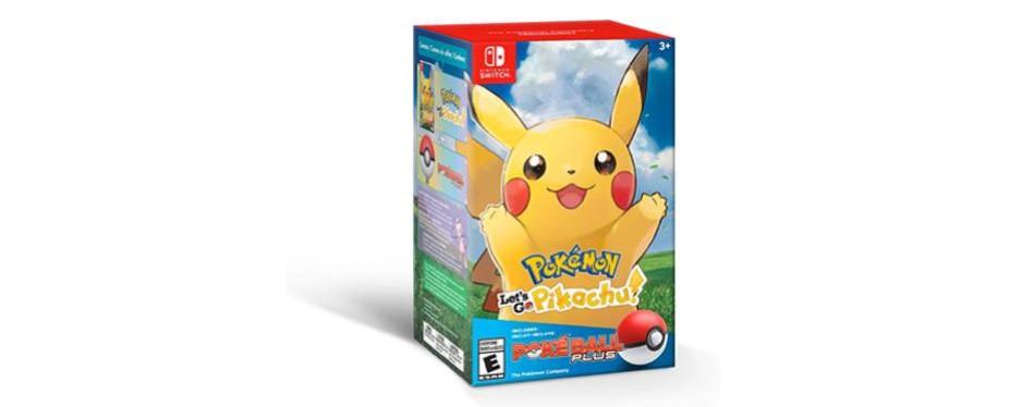 pokemon: let's go pikachu! + pokeball plus pack video game