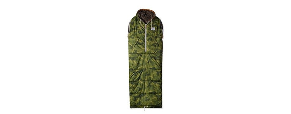 poler men's the shaggy napsack wearable sleeping bag