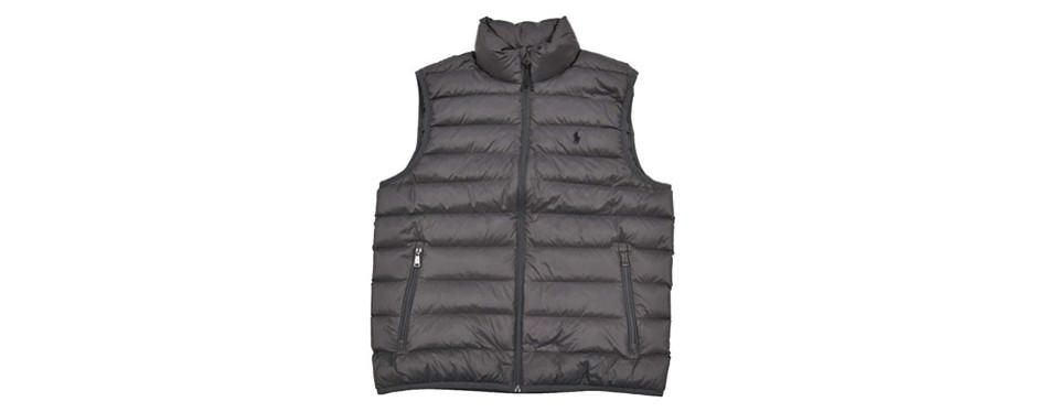 polo ralph lauren men's full zip puffer vest