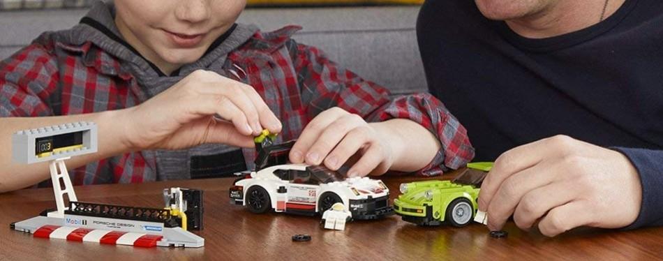 porsche 911 rsr and 911 turbo lego car set