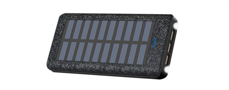 portable charger solar charger power bank 24000mah