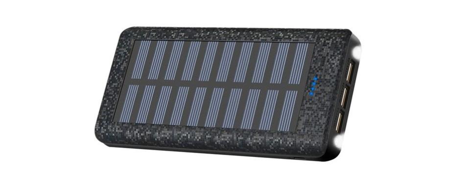 portable charger solar charger power bank 24000mah