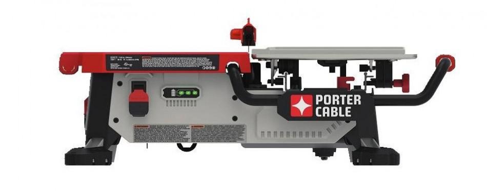 porter cable pcc780la 7-inch sliding table top wet tile saw