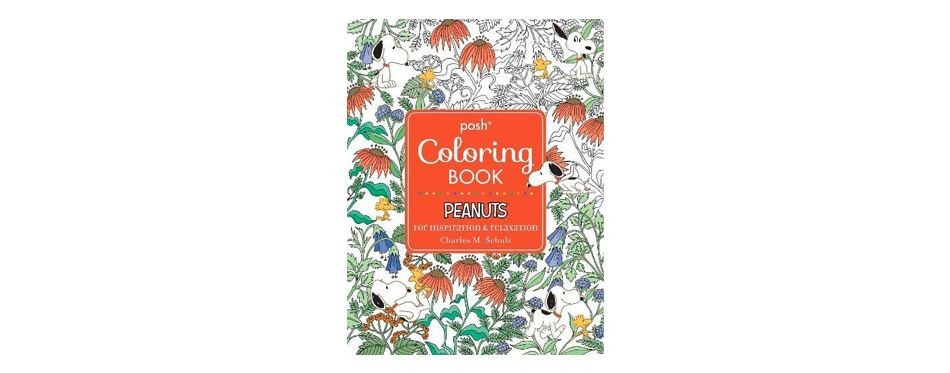 posh adult coloring book: peanuts for inspiration and relaxation