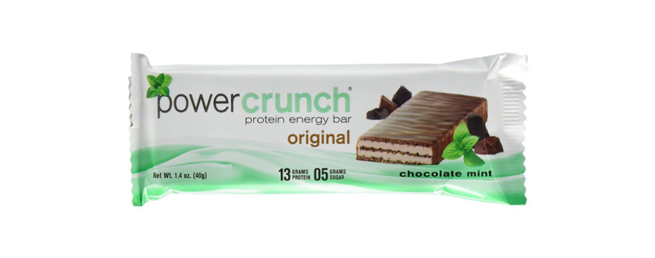power crunch protein energy bar, chocolate mint
