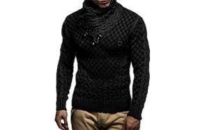 leif nelson men's knitted pullover