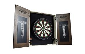 barrington premium bristle dartboard cabinet set