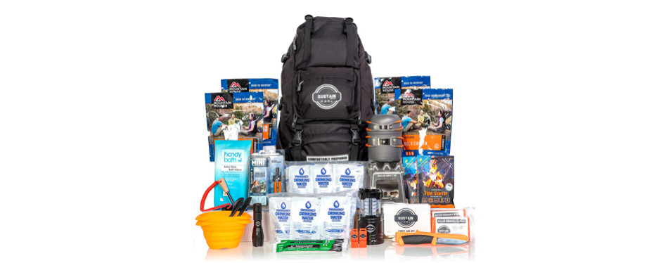 premium emergency survival bag, by sustain supply co.