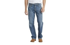silver jeans co. loose fit distressed jeans for men