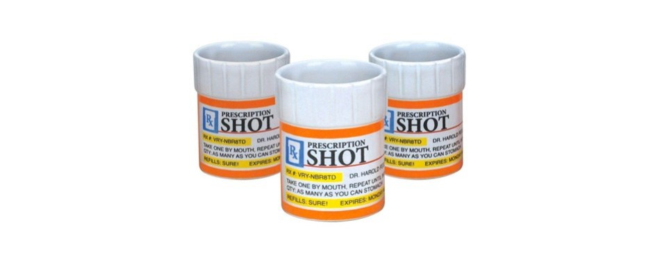 prescription-pill bottle shaped shot glass