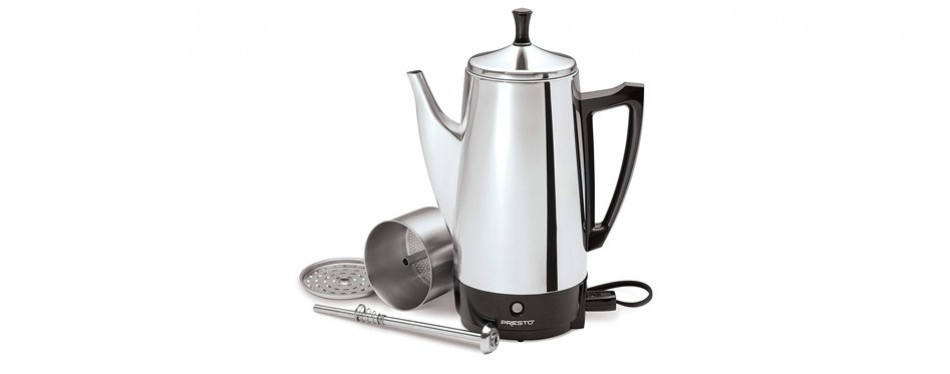 presto 12-cup stainless steel coffee percolator