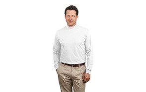 port & company mock turtleneck