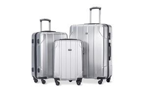 merax 3 piece p.e.t luggage set