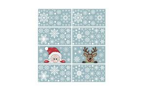 ccinee christmas snowflake window stickers