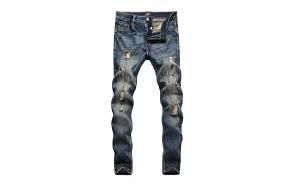 zlz skinny distressed jeans for men