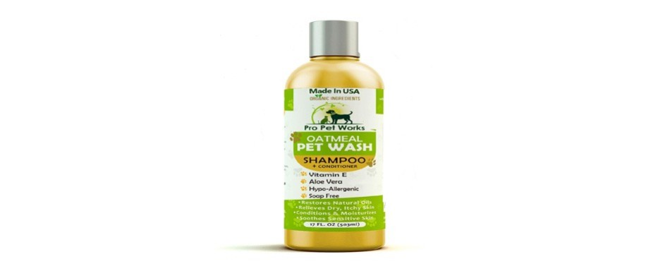pro pet works all natural dog shampoo