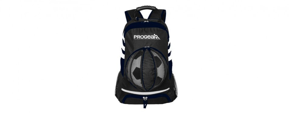 progear soccer backpack w/ ball pocket